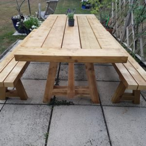Garden Table & Benches
