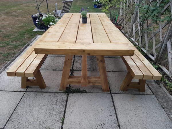 Garden Table & Benches