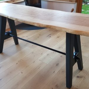 Ash Console Table Angled View