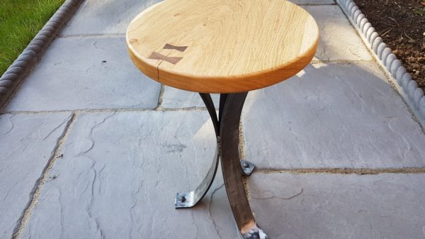 Side Table with Bow Tie Finish